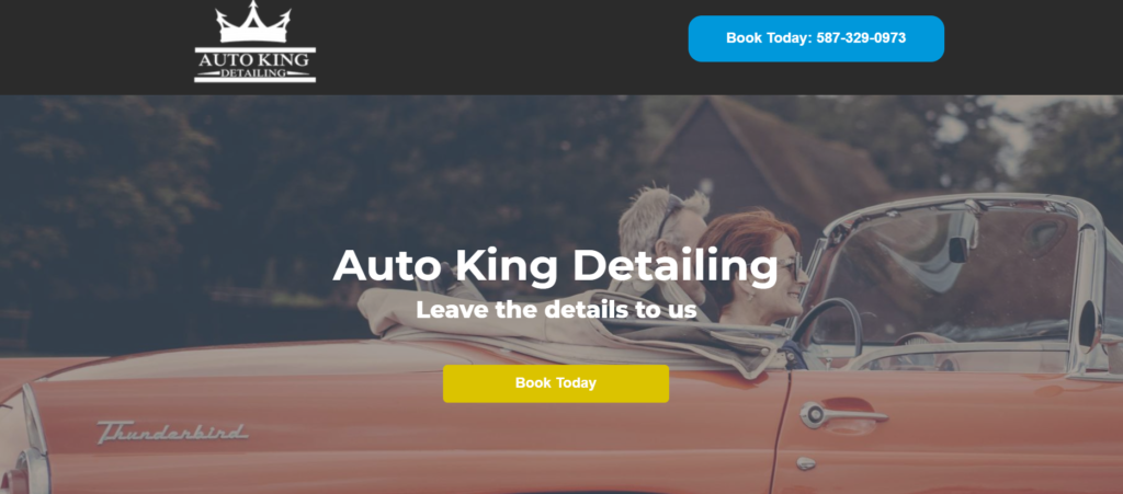 Auto King landing page from PPC ad