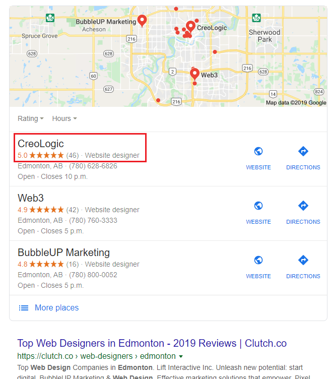Using customer reviews to rank first in Google.